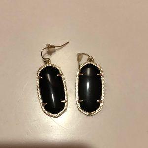 kendra scott black elle earrings